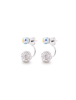SWAROVSKI CRYSTAL SPHERES EARRINGS