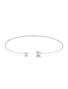 DUO SPHERES RHODIUM CHOKER