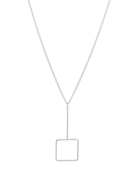 SQUARE AND LINE NECKLACE