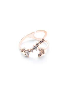 ADJUSTABLE BUTTERFLY ROSEGOLD RING