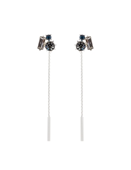 THREE SPARKLING STONES EARRINGS