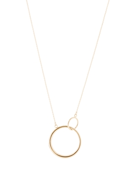 DOUBLC CIRCLE GOLD NECKLACE