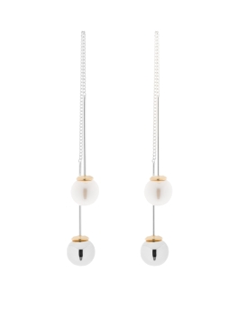 PAULETTE DANGLING RHODIUM EARRINGS