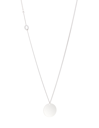 ROUND ELEMENTS RHODIUM NECKLACE