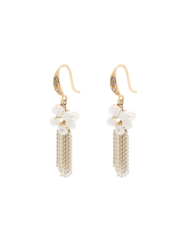 EVA WHITE AND GOLD EARRINGS