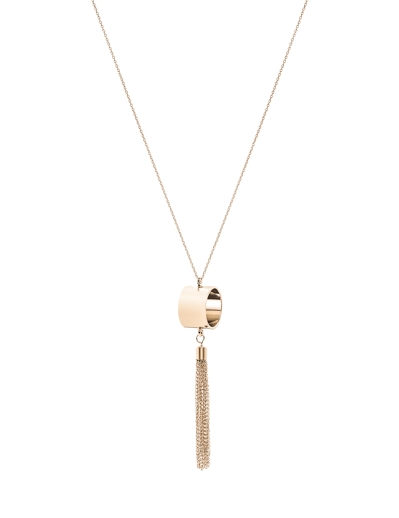 TASSEL AND RING GOLD NECKLACE