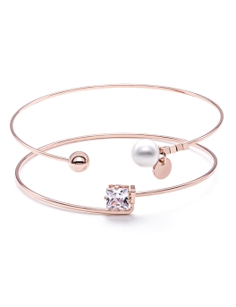 TWO ROSEGOLD STACKING BANGLES