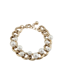 PEARL GOLD CHAIN BRACELET