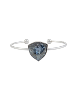 LUXE CRYSTAL RHODIUM BANGLE