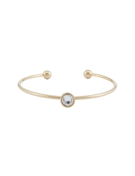 ROUND CRYSTAL GOLD BANGLE