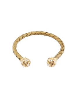 TWIN PUFFS GOLD WEAVED BANGLE