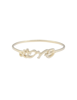 LOVE GOLD BANGLE