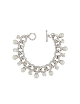 STYLISH PEARL RHODIUM BRACELET