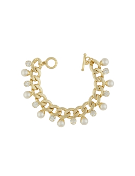 STYLISH PEARL GOLD BRACELET