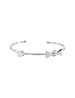 RIBBON RHODIUM BANGLE