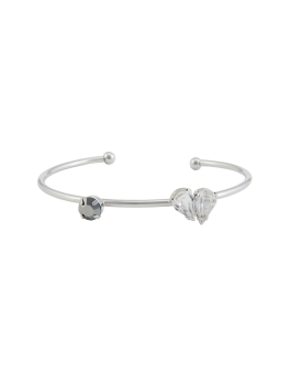 LOVE CRYSTAL RHODIUM BANGLE
