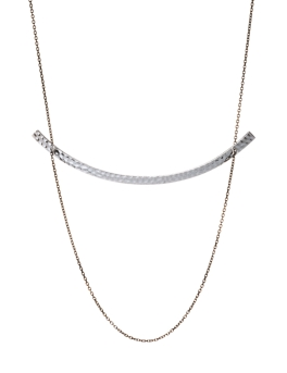 RHODIUM CRESCENT NECKLACE