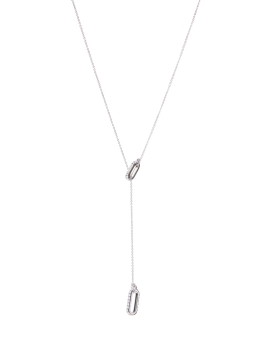 CRYSTAL DROP RHODIUM NECKLACE