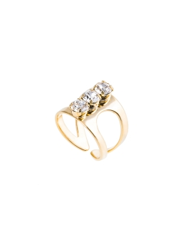 ALEXIS CRYSTALS GOLD RING