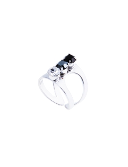 ALEXIS CRYSTALS RHODIUM RING