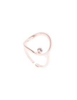 OPEN CRYSTAL ROSEGOLD RING