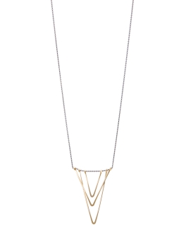 TRIPLE GOLD V NECKLACE