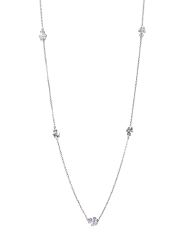 HAPPY FLORAL RHODIUM NECKLACE