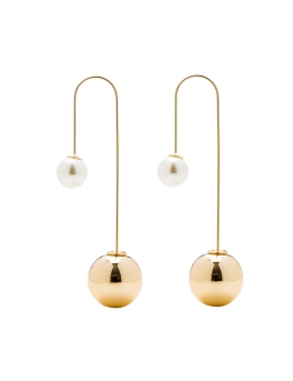 JESSICA GOLD SPHERES EARRINGS