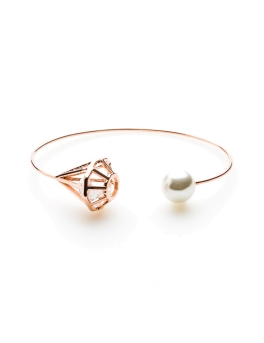 CAGE AND PEARL ROSEGOLD CUFF