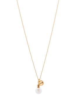 LOVE AND LIGHTBULB GOLD NECKLACE