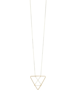 CHAIN IN TRIANGLE NECKLACE