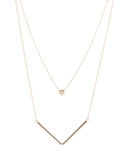 DOUBLE ROW GOLD NECKLACE