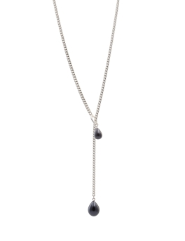 LONG GREY PEARLS NECKLACE