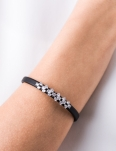 CLEAR CZ DESIGN BLACK CUFF