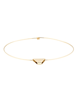 REVERSIBLE TRIANGLE GOLD CHOKER