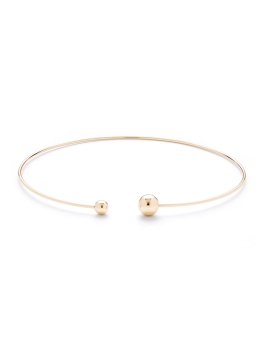 DUO SPHERES GOLD CHOKER