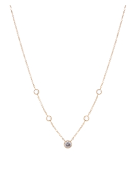 FIVE CZ GOLD NECKLACE