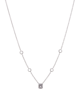 FIVE CZ RHODIUM NECKLACE