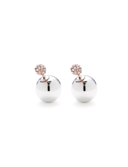 PAULETTE DUO RHODIUM EARRINGS