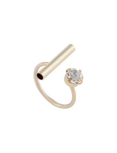 CRYSTAL AND LINE RING
