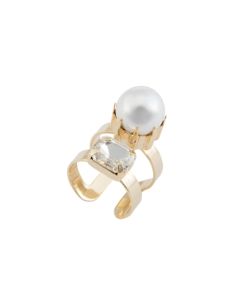 GLAM PEARL CRYSTAL RING