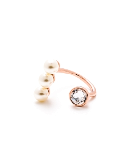 SWAROVSKI CRYSTAL N PEARLS RING
