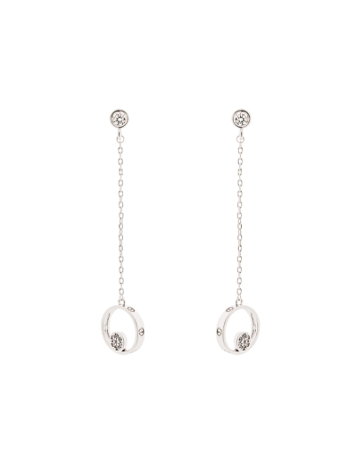 FINE LUXE LONG CUBIC EARRINGS