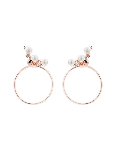 ORCHID CIRCLE ROSEGOLD EARRINGS
