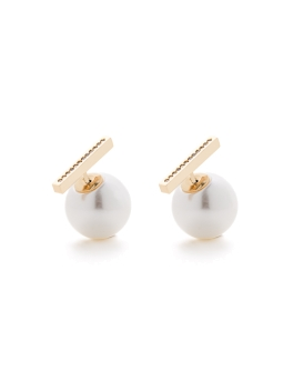 VERSATILE PEARLS AND BAR EARRINGS