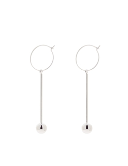 SIMPLE DESIGN RHODIUM EARRINGS