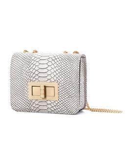 AVA WHITE GOLD LEATHER BAG