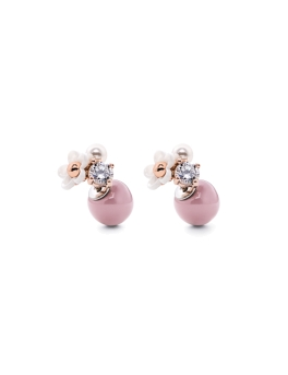 FLORAL NUDE PINK DUO EARRINGS