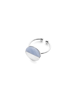 BLUE MOSAIC RHODIUM RING