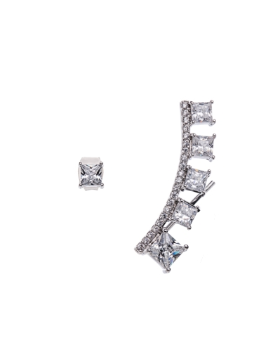 ASYMMETRICAL MODERN CUBIC EARRINGS